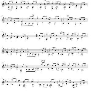 Johann Sebastian Bach: Bourrée [Guitar] – Professional Sheet